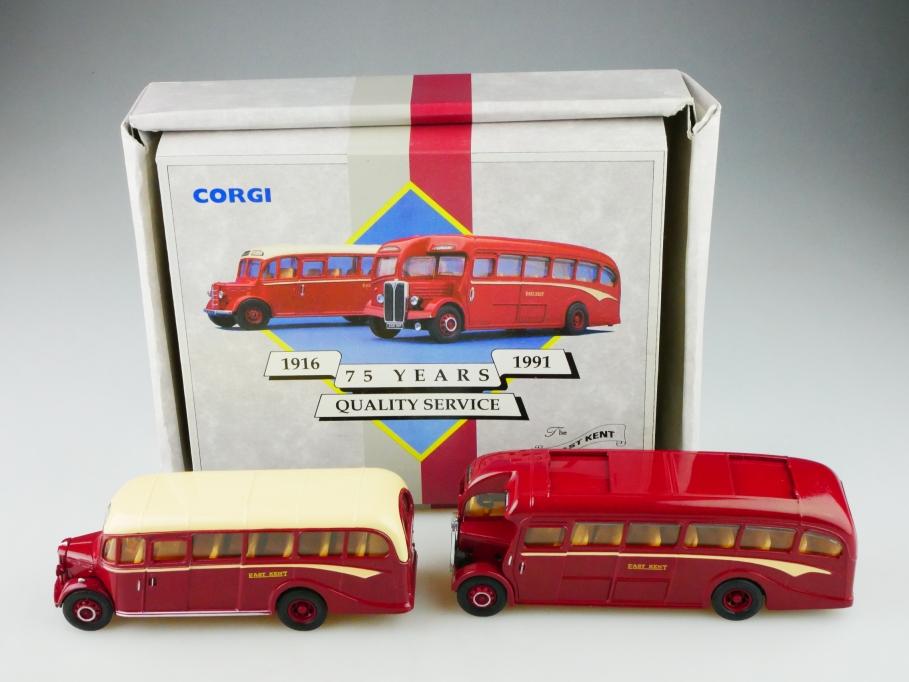 Corgi Toys ca. 1/50 AEC Regal Bedford Bus set  Coach Easy Kent mit Box 513148