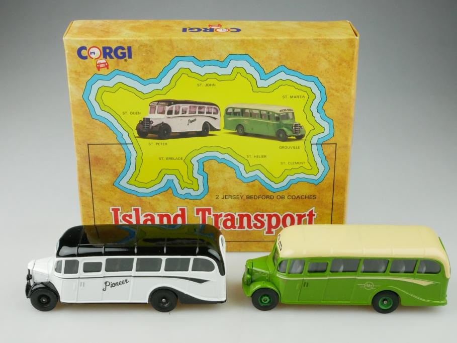 97741 Corgi Toys 1/50 Bedford Coach Set Island Transport mit Box 513166
