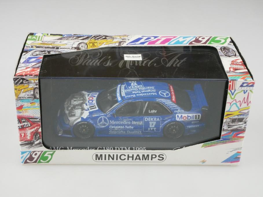 Minichamps 1/43 Mercedes Benz C-Class DTM 1995 Presentation Lohr mit Box 513182