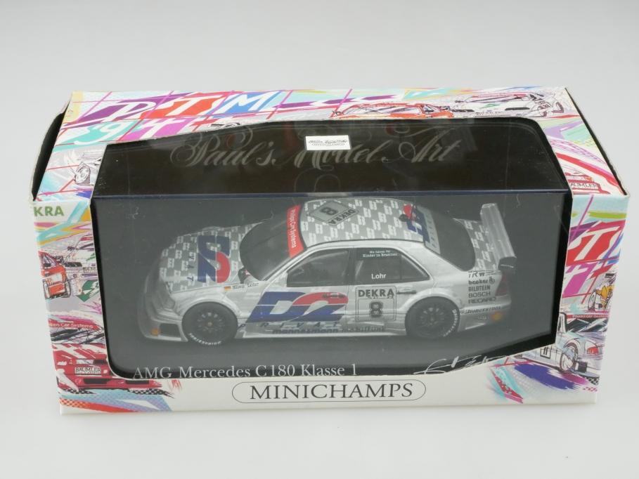 Minichamps 1/43 Mercedes Benz C 180  DTM 1994 Team AMG Lohr mit Box 513183