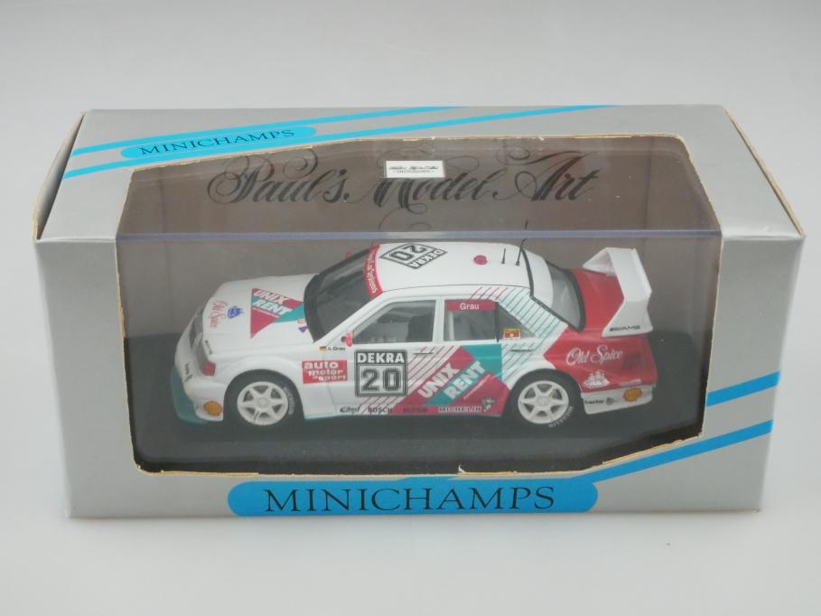 Minichamps 1/43 Mercedes Benz 190 E Evo 2 DTM 1993 S.Grau mit Box 513194