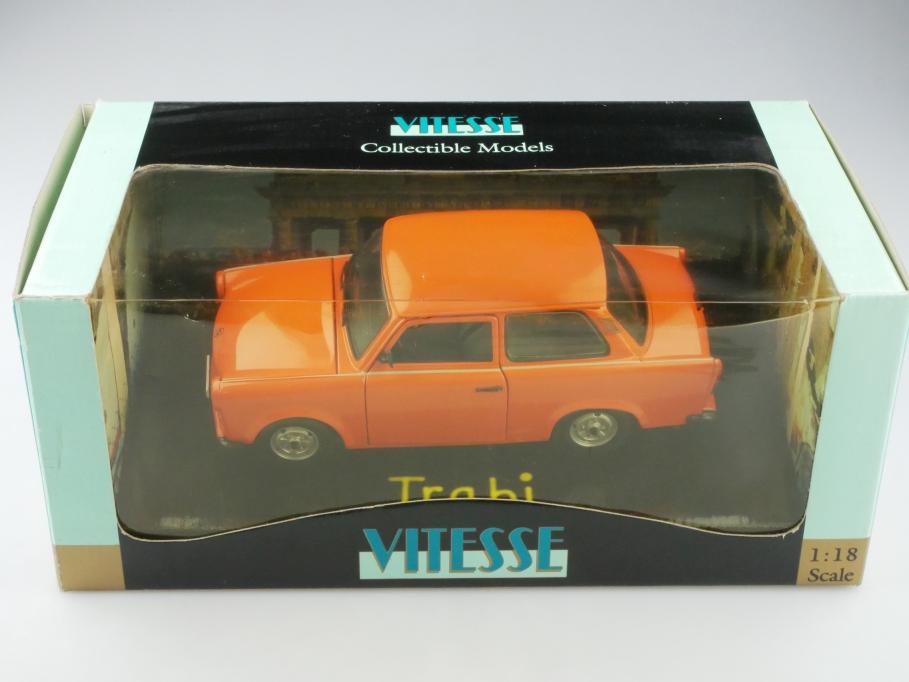 18004 Vitesse 1/18 Sachsenring Trabant 601 orange 1989 mit Box 513216