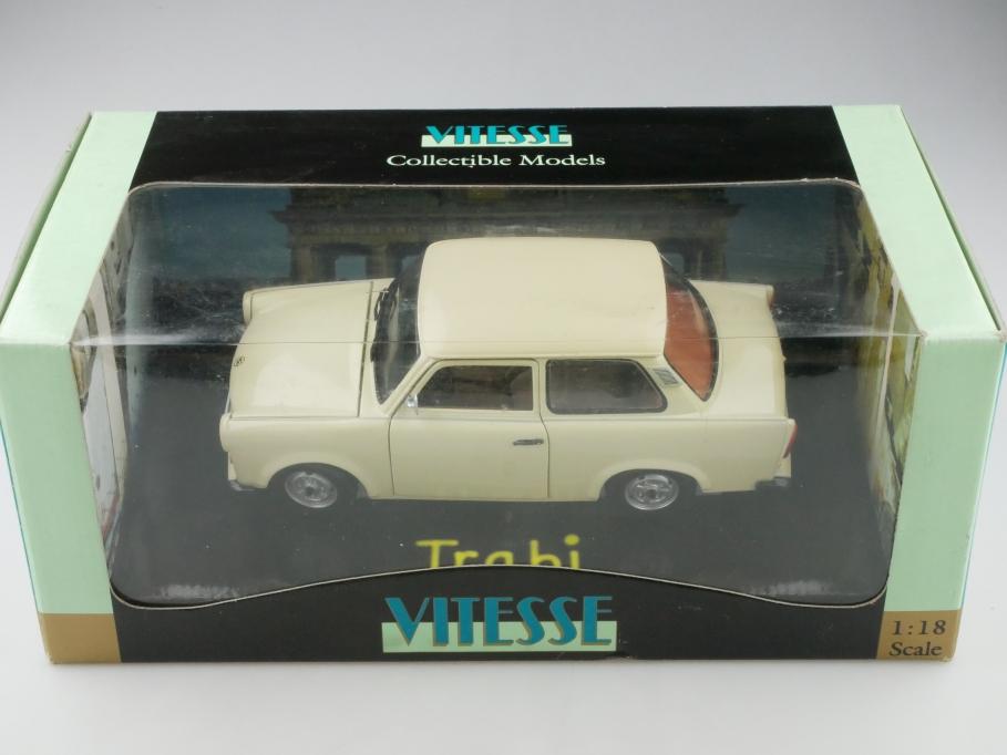 18001 Vitesse 1/18 Sachsenring Trabant 601 light beige 1989 mit Box 513217