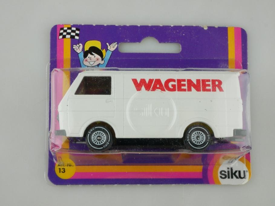 1334 Siku 1/55 VW LT Kastenwagen Werbemodell Wagener mit Box 513223