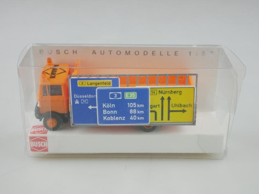 40791 Busch 1/87 Mercedes Benz LP 809 Schilderwagen Straßenmeisterei  Box 513224