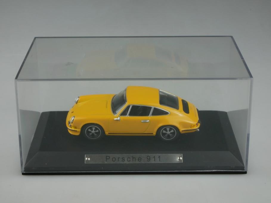 Atlas Norev 1/43 Porsche 911 Coupe selten in gelb yellow mit Box 513247