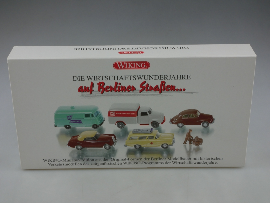 9905052 Wiking 1/87 auf Berliner Straßen mit DKW Mercedes Opel Box 513299