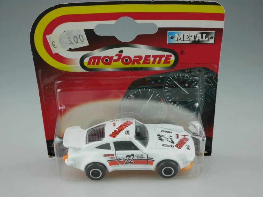 209 Majorette 1/57 Porsche 911 Turbo Coupe Rallye Racing Team mit Box 513307