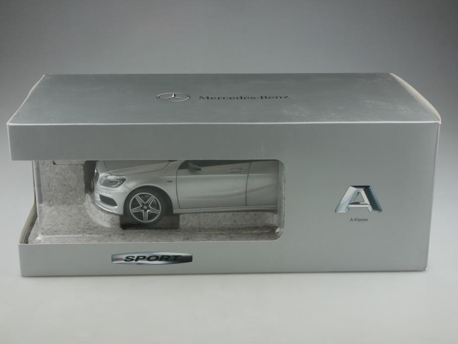 Norev 1/18 Mercedes Benz A Classe W 177 polarsilber Händleredition m. Box 513315