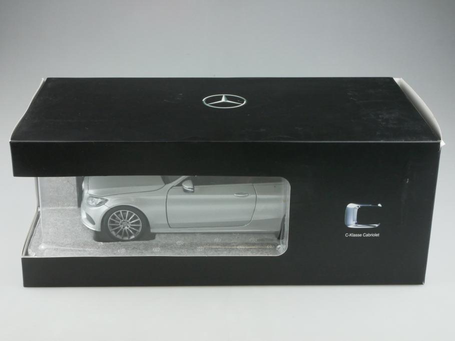 Norev 1/18 Mercedes Benz C Classe Cabrio  polarsilber Händleredition  Box 513316