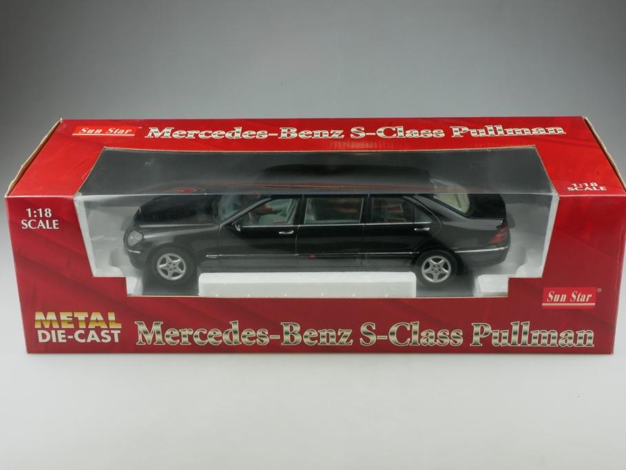 Sun Star 1/18 Mercedes Benz S 600 Pullman Stretchlimousine mit Box 513321