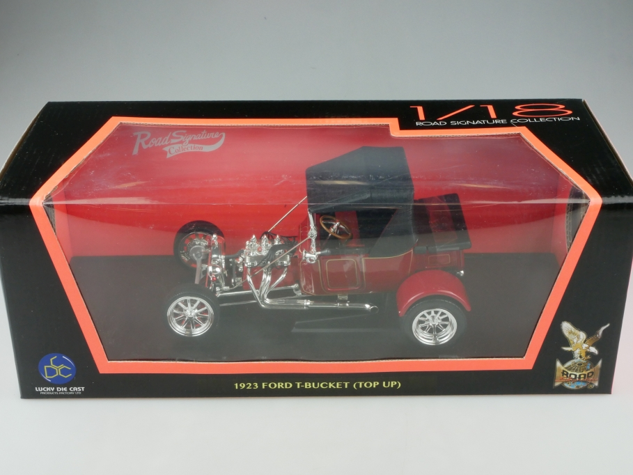 Road Signature 1/18 Ford T Bucket 1923 Hot Rod Top Up mit Box 513322