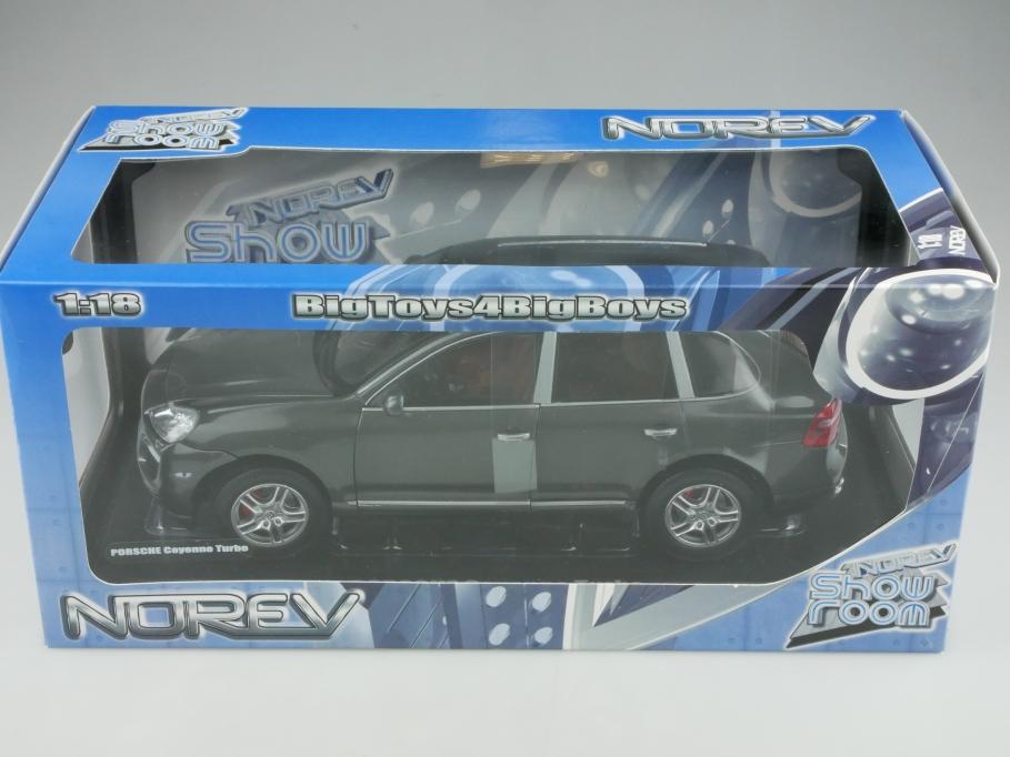 Norev 1/18 Show Room Porsche Cayenne Turbo SUV mit Box 513326