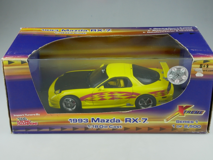 Racing Champions 1/18 Mazda RX 7 Coupe 1991  X Treme Tuner mit Box 513327