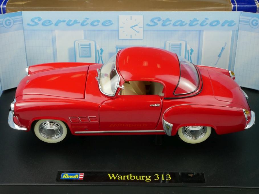 8839 Revell 1/18 Wartburg 313 Roadster mit Hardtop DDR rot mit Box 513331