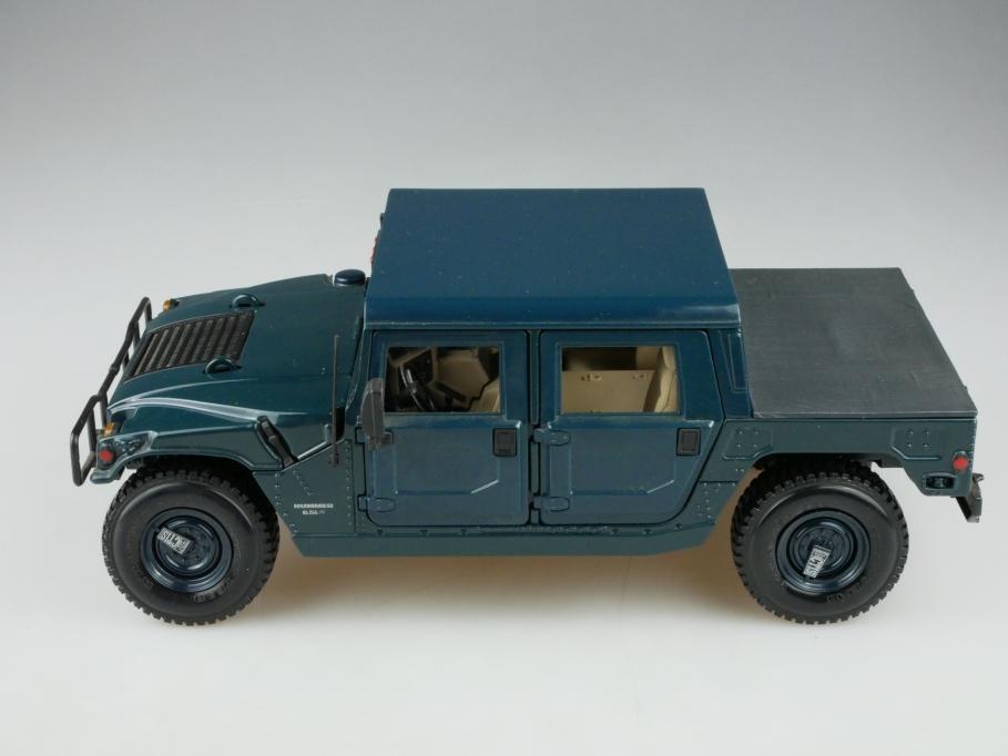 Maisto 1/18 Hummer H2 Zivil Gelände SUV blaugrün ohne Box 513375