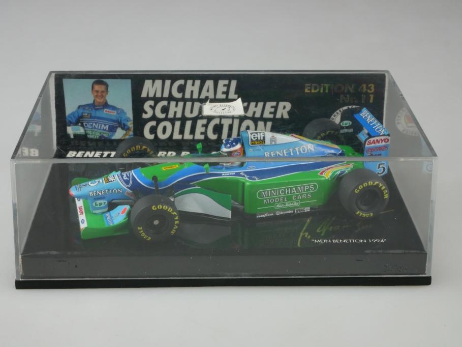 Minichamps 1/43 Schuhmacher 1994 Benetton Ford B 194 Formel 1 mit Box 513382