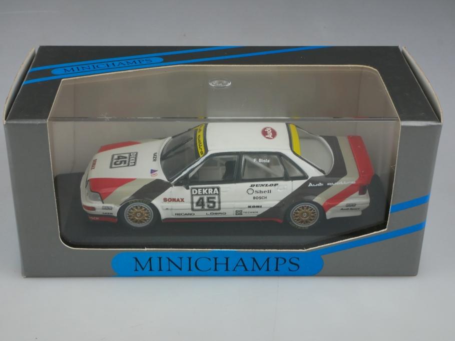 11111 Minichamps 1/43 Audi V8 Quattro Evo DTM Team AZR Biela mit Box 513383