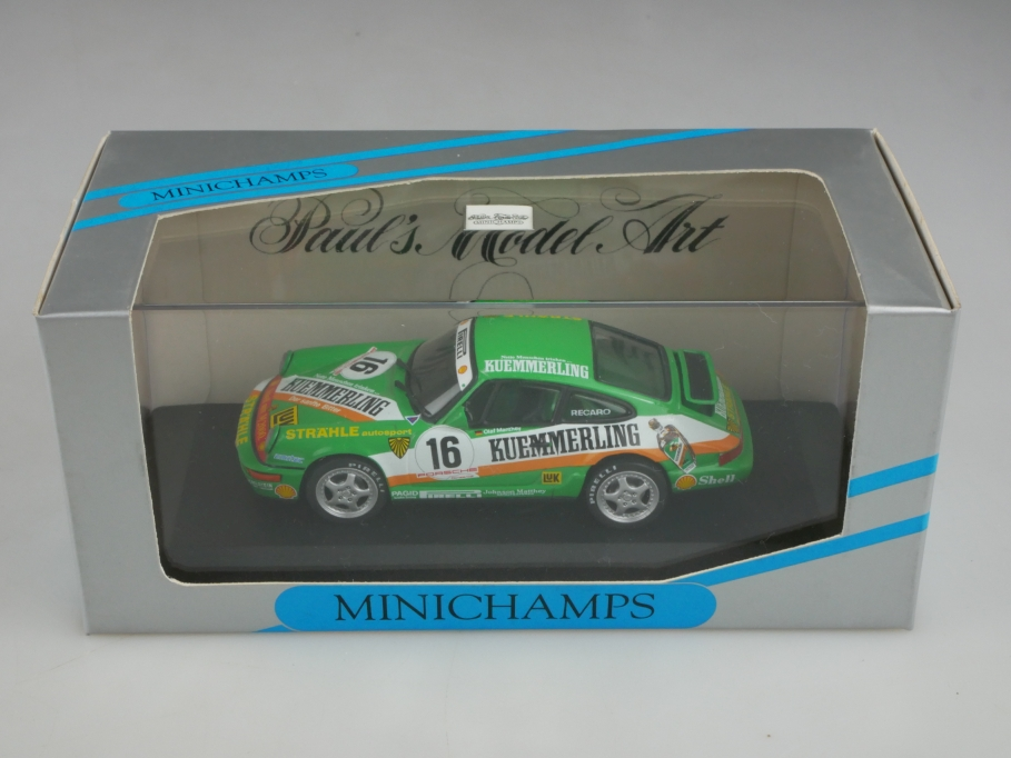 Minichamps 1/43 Porsche 911 Coupe Manthey Straehle Autosport 1992 mit Box 513389