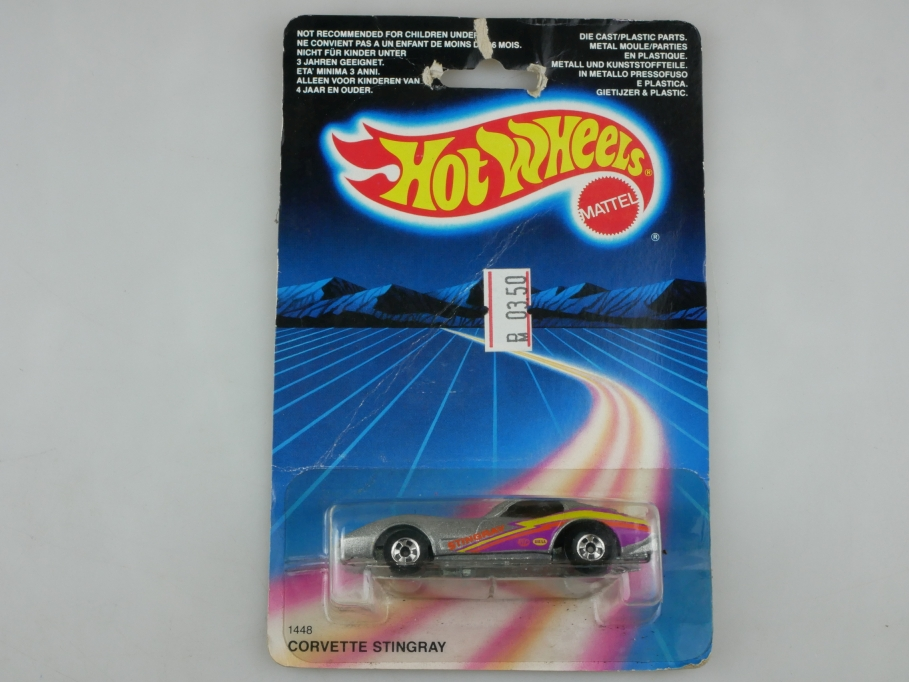1448 Hot Wheels 1/64 Chevrolet Corvette Stingray Coupe 1986 mit Box 513400