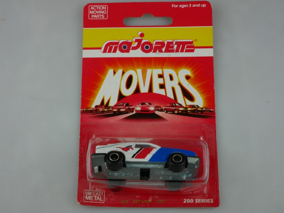 220 Majorette 1/59 Ford Mustang Coupe Racing 200 Series Movers mit Box 513413