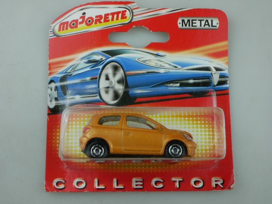 254 B Majorette 1/59 Toyota Yaris Compact orangegoldmetallic mit Box 513415