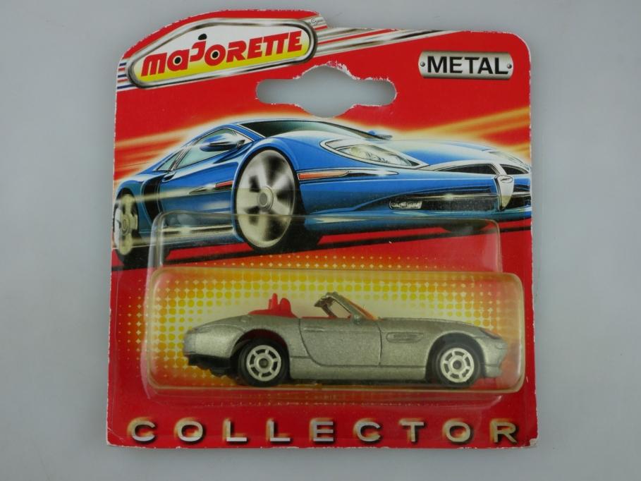 244 B Majorette 1/57 BMW Z8 Roadster Convertible silvermetallic mit Box 513416