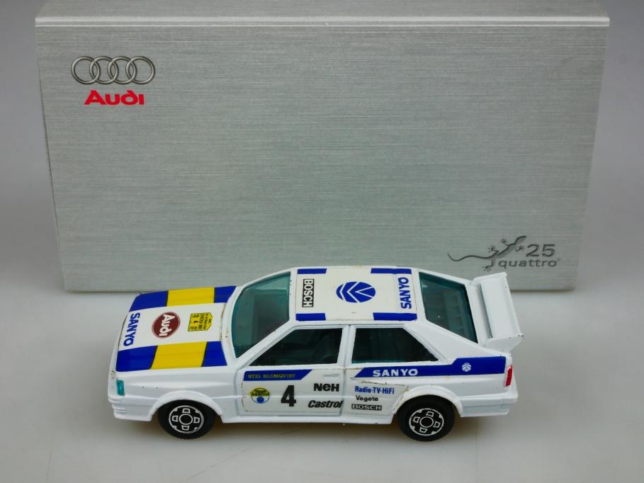 4159 Bburago 1/43 Audi Quattro Coupe Swedish Rally & Jubiläumsgecko  513418