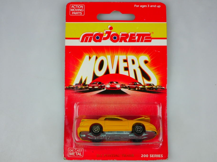 212 Majorette 1/63 Pontiac Trans Am Firebird Coupe yellow in Box 513421