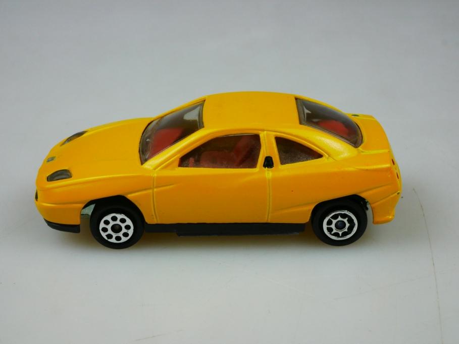 201 Majorette 1/60 Fiat 175 Coupe 1994 selten gelb yellow ohne Box 513441