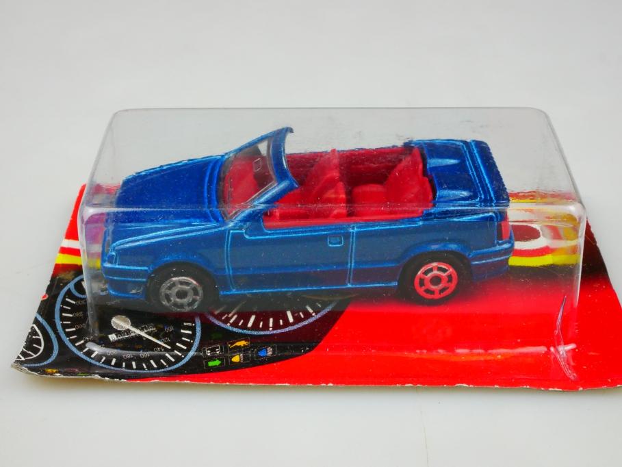 225 Majorette 1/55 Renault 19 Convertible 1993 Cabrio bluemetallic m. Box 513443