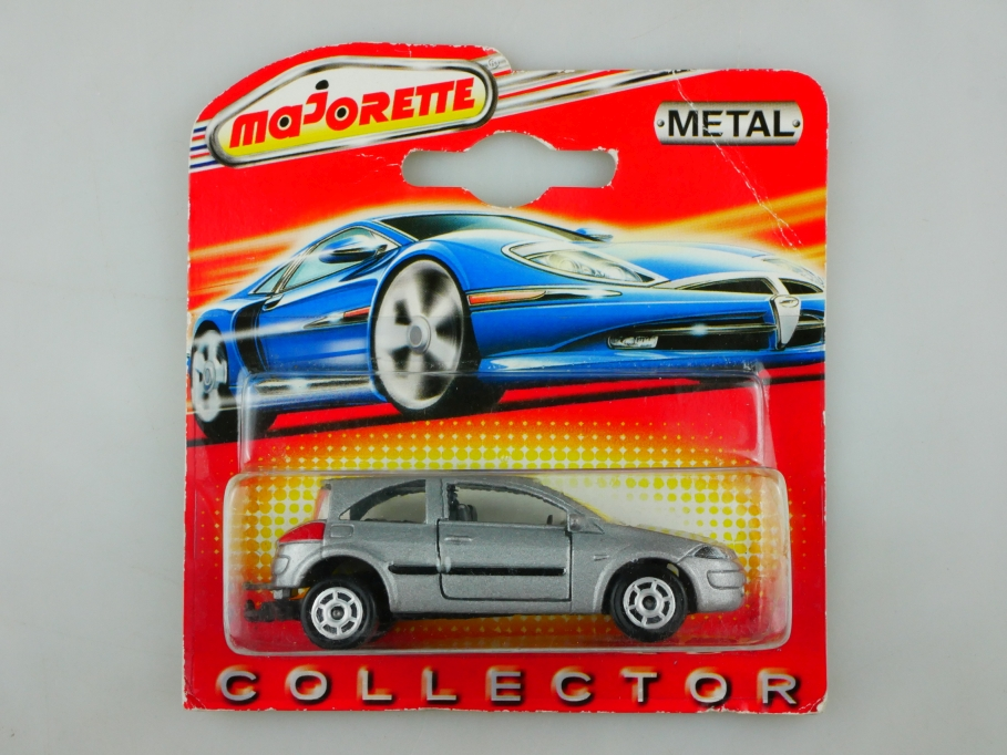 221 C Majorette 1/58 Renault Megane II 2002 silvermetallic in Box 513446