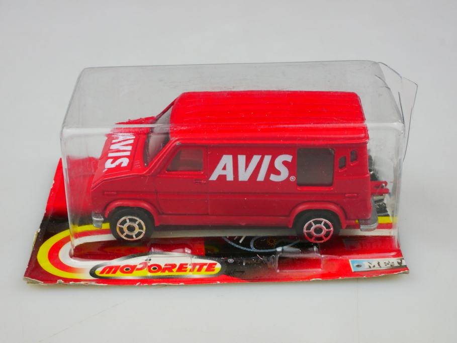 279 Majorette 1/65 Ford Econoline Fourgon Avis Rental in geöffneter Box 513456