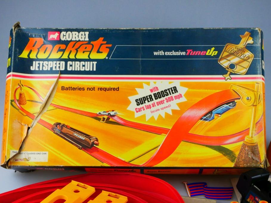 2071 Corgi Toys Rockets 1/64 Jetspeed Circuit Rennbahn with Booster m.Box 513457