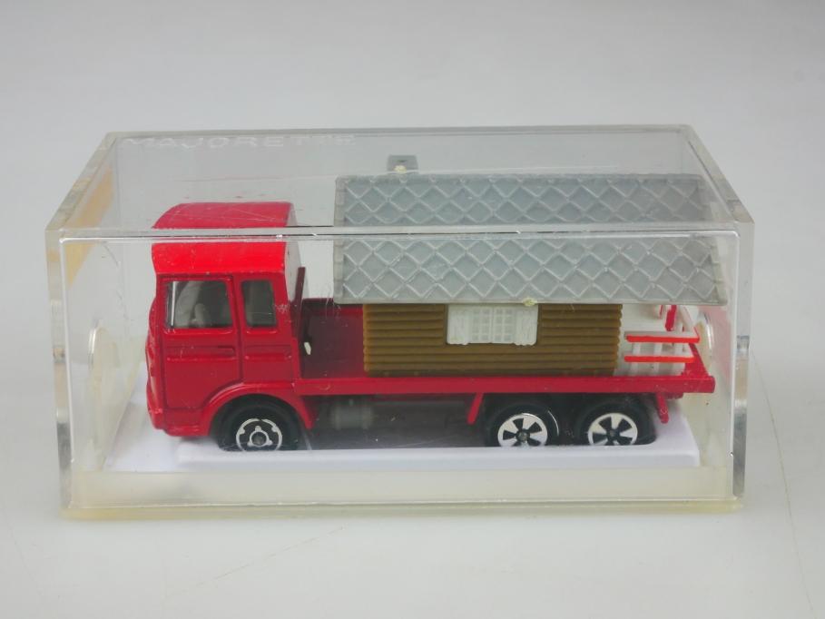 236 Majorette 1/100 Saviem 3 Achser Truck Chalet Transpoter  mit Box 513460