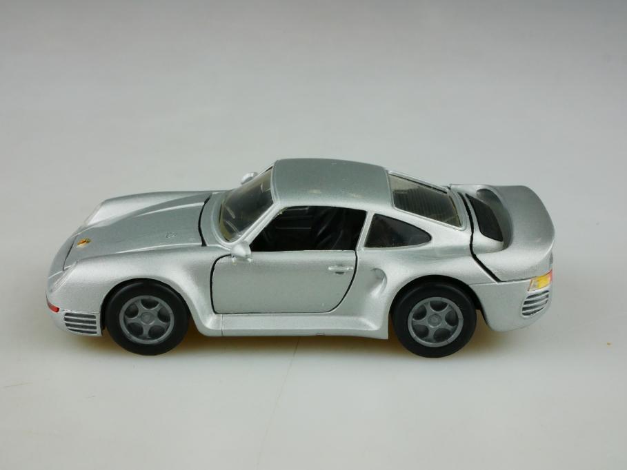 297 NZG 1/43 Porsche 959 Coupe silvermetallic ohne Box 513472
