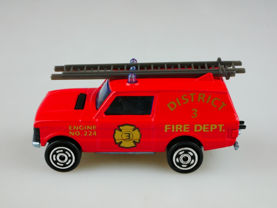 246 Majorette 1/60 Range Rover Station Fire District Feuerwehr ohne Box 513484