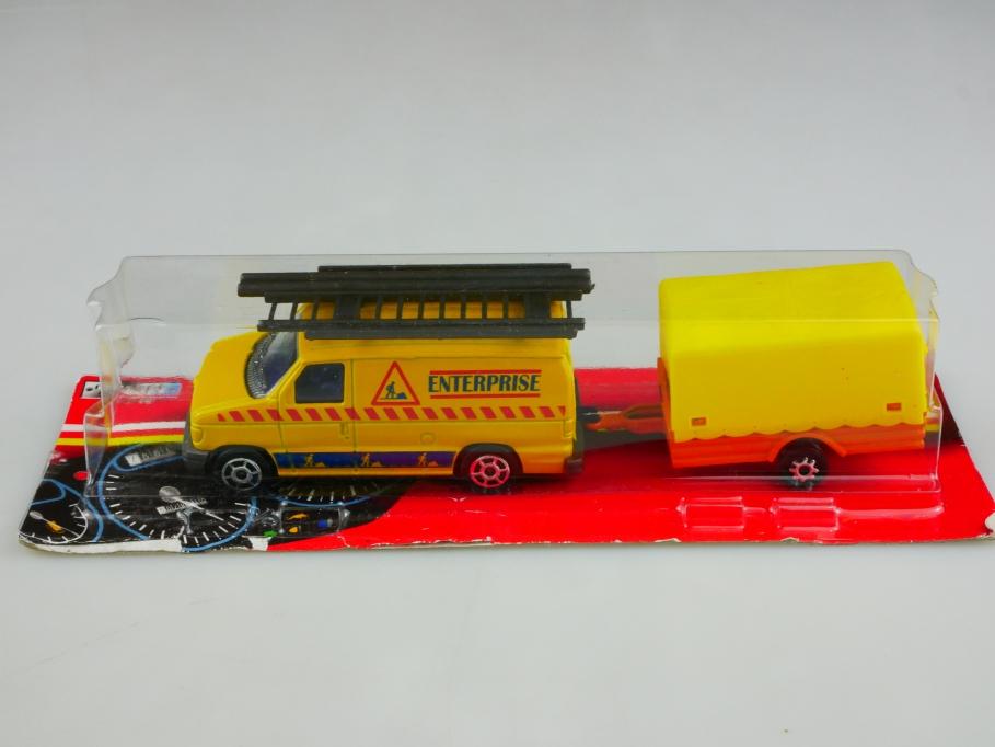 271 Majorette 1/63 Ford Econoline Van & Trailer Enterprise mit Box 513488
