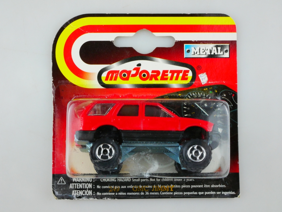 249 Majorette 1/58 GMC Jimmy Monster SUV 4x4 Station Wagon mit Box 513497