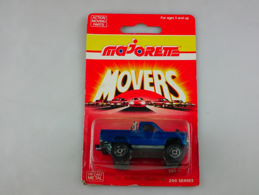292 Majorette 1/56 Toyota Hilux 4x4 Monster Pickup Movers mit Box 513493