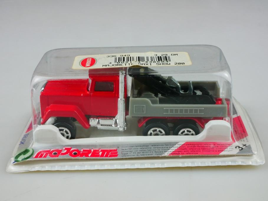 256 Majorette 1/100 Mack Towing Truck Abschleppwagen LKW mit Box 513498