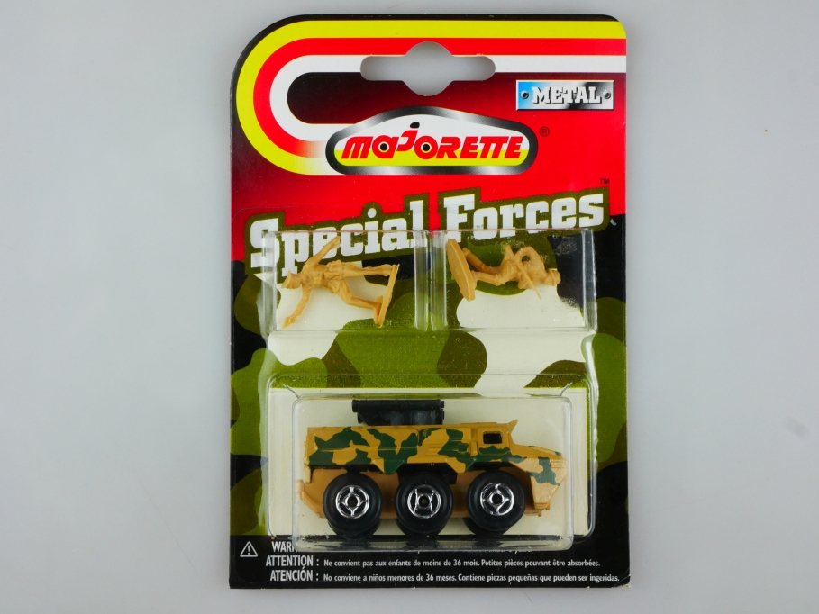 Majorette Special Forces ca.1/87 Armoured Car & Figuren Military mit Box 513500