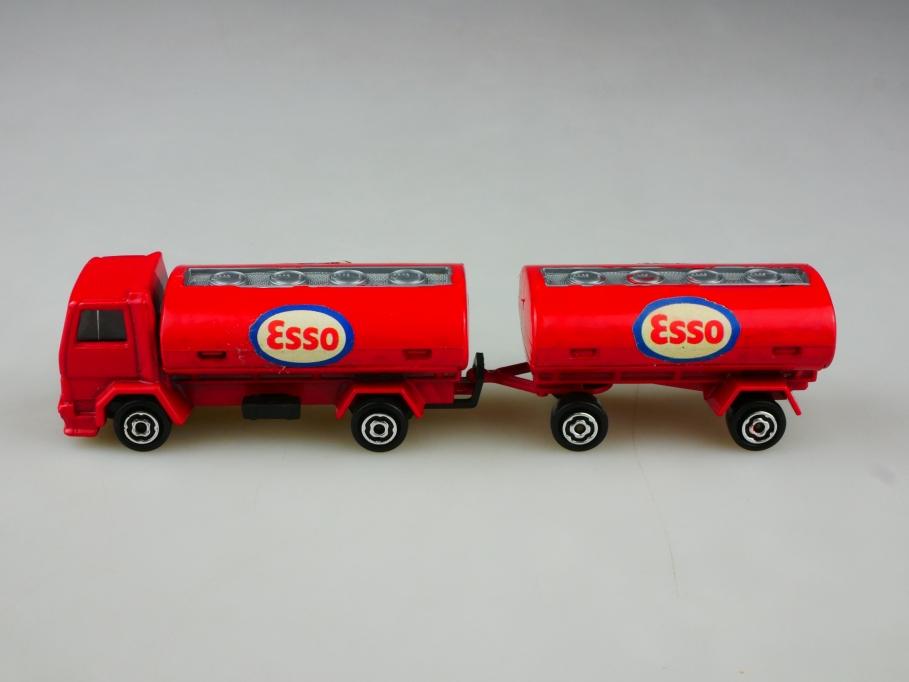 241 Majorette 1/100 Ford Truck Esso Tanklastzug Citerne ohne Box 513501