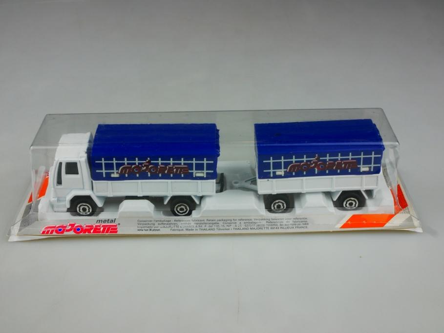 242 Majorette 1/100 Ford Truck Pritschenlastzug Werbemodell mit Box 513502