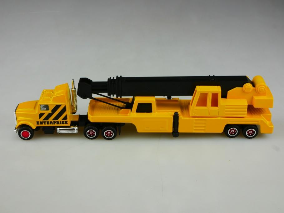 Majorette 1/87 Frightliner Truck Enterprise mit Aufliegerkran ohne Box 513505