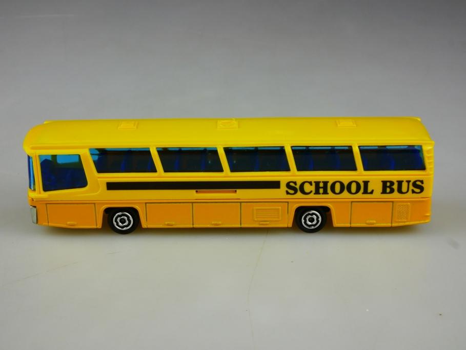 373 Majorette 1/87 Neoplan School Bus yellow gelb ohne Box 513511