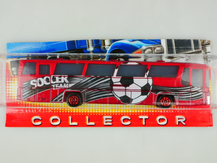 373 Majorette 1/87 Neoplan Soccer Team Mannschaftsbus Fußball ohne Box 513512