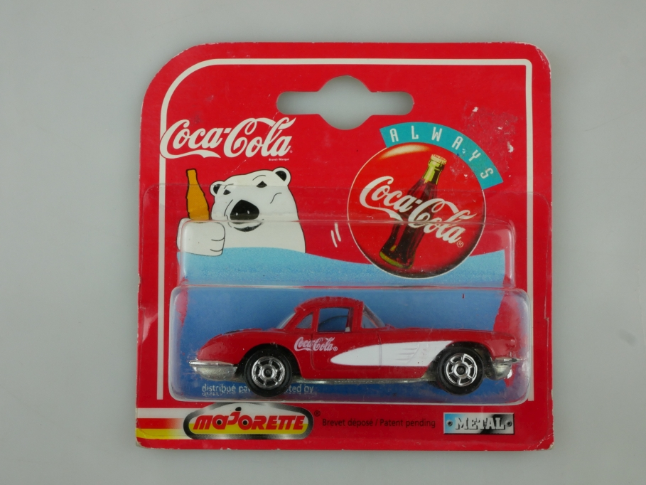 279 Majorette 1/58 Chevrolet Corvette 1958 Coca Cola Edition mit Box 513519
