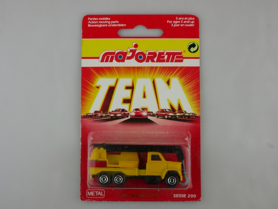 283 Majorette 1/100 Ford Truck LKW Mobilkran Crane Team mit Box 513523