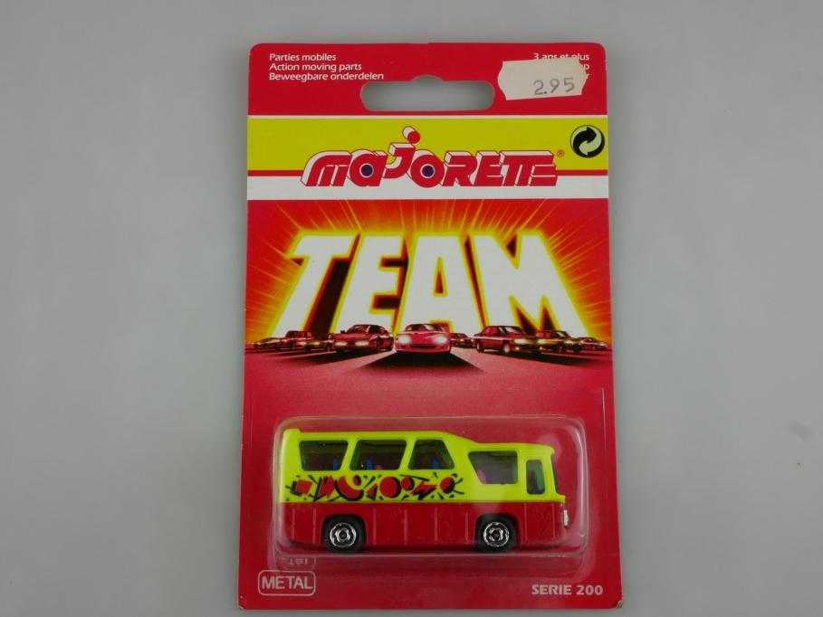 262 Majorette 1/87 Setra Minibus Serie 200 Team mit Box 513525